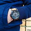 Часы мужские в стиле Curren. Мужские наручные часы черные. С черным циферблатом Годинник чоловічий, фото 5