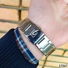 Часы мужские в стиле Curren. Мужские наручные часы серебристые. С черным циферблатом Годинник чоловічий, фото 3