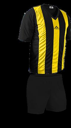 Форма футбольна Practic M, L, XL, XXL Жовто-Чорна, фото 2