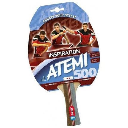 Ракетка для настольного тенниса ATEMI 500 сертифицирована ITTF, фото 2