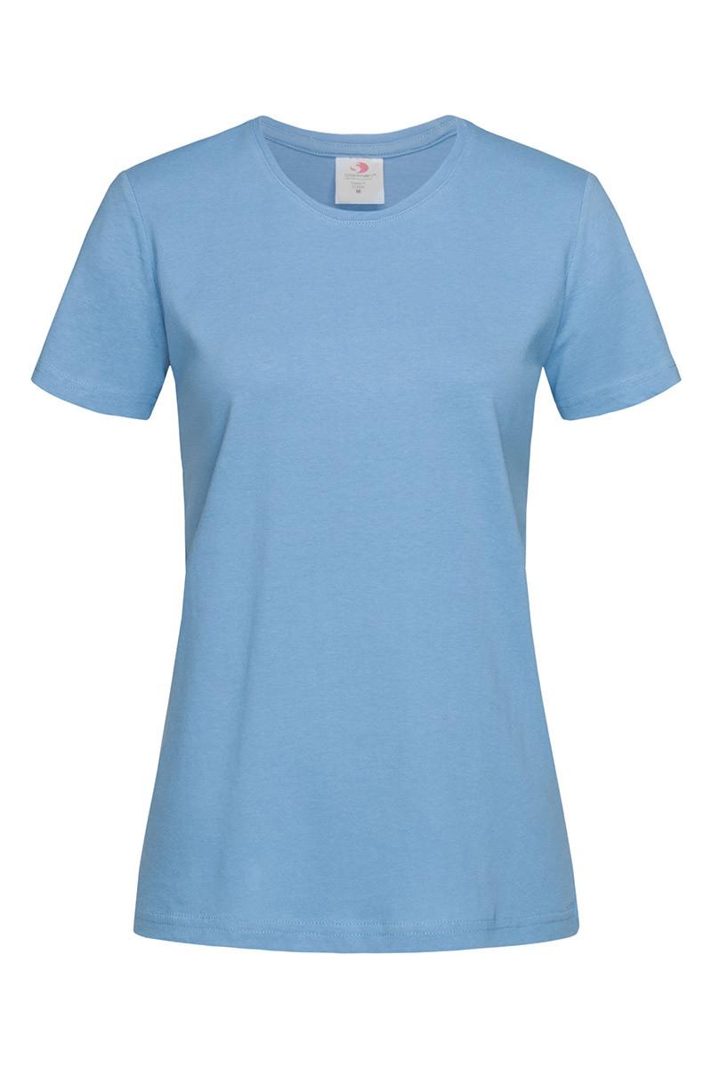 Футболка женская голубая с круглым вырезом Stedman - LBLСТ2600