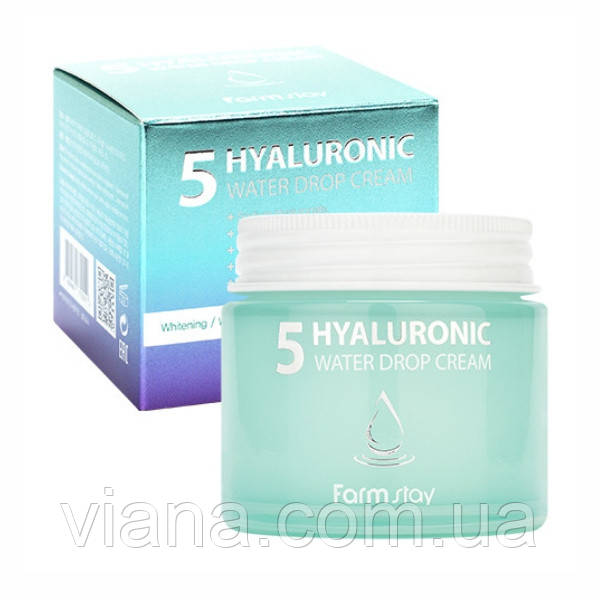 Увлажняющий крем с 5 видами гиалуроновой кислоты  Farmstay Hyaluronic 5 Water Drop Cream  80 мл