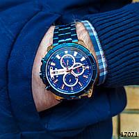 Часы мужские в стиле Curren. Мужские наручные часы синие. С синим циферблатом Годинник чоловічий