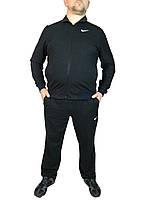 Спортивный костюм мужской однотонный НАЙК,NIKE,класика,черный,трикотажный , 50,52,54,56 производство Турция.