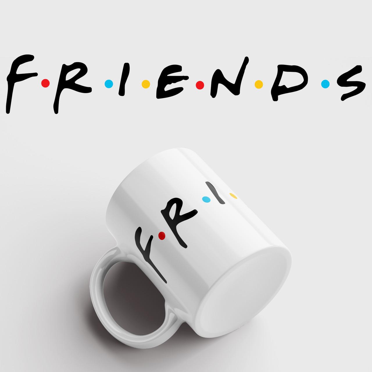 Кружка с принтом Friends. Сериал Друзья. Чашка с фото