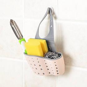 Подвесная корзинка для кухонных губок розовая SKL32-152669