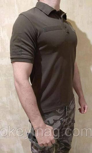 Тактическая футболка Поло ЗСУ, НГУ, ДПСУ Кулпас (Coolpass) Олива