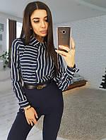 Комплект: Рубашка в полоску и зауженные к низу брюки, фото 1