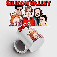 Кружка с принтом Silicon Valley. Сериал Кремниевая Долина. Чашка с фото