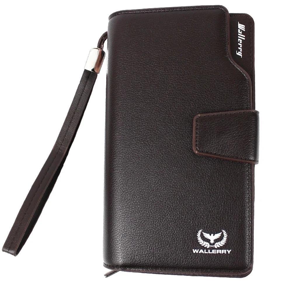 Мужской клатч, портмоне, кошелек Wallerry Business S1063 Коричневый