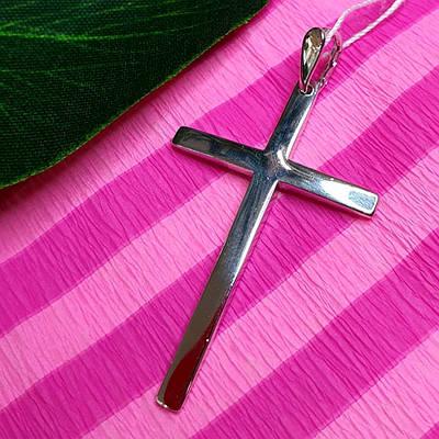 Серебряный католический крест - Католический крестик серебро
