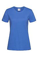 Футболка женская синяя с круглым вырезом Stedman - BRRCT2600