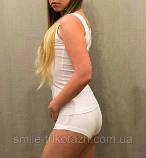 Женская белая майка из вискозы, фото 2