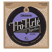 Струны для классической гитары D`ADDARIO EJ44 PRO-ARTE EXTRA-HARD TENSION экстра сильное натяжение