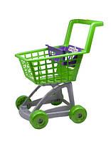 Тележка супермаркет зеленая