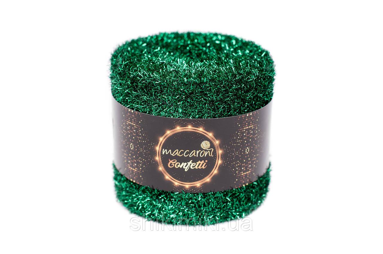 Фантазийный шнур Maccaroni Confetti, цвет Изумрудный