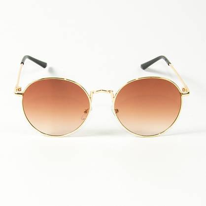 Оптом солнцезащитные очки круглые  (арт. 10-9844/3) коричневые, фото 2