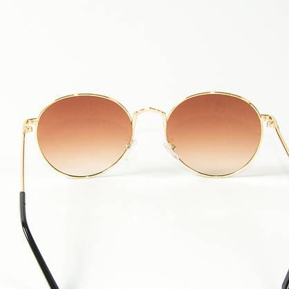Оптом солнцезащитные очки круглые  (арт. 10-9844/3) коричневые, фото 3