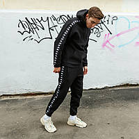 Спортивный костюм мужской Kappa x black весенний осенний   ЛЮКС