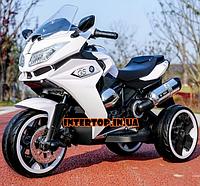 Детский трехколесный электро-мотоцикл от 3 до 6 лет BMW белый. Мощность 70ВТ BMW M 3688EL-1 белый