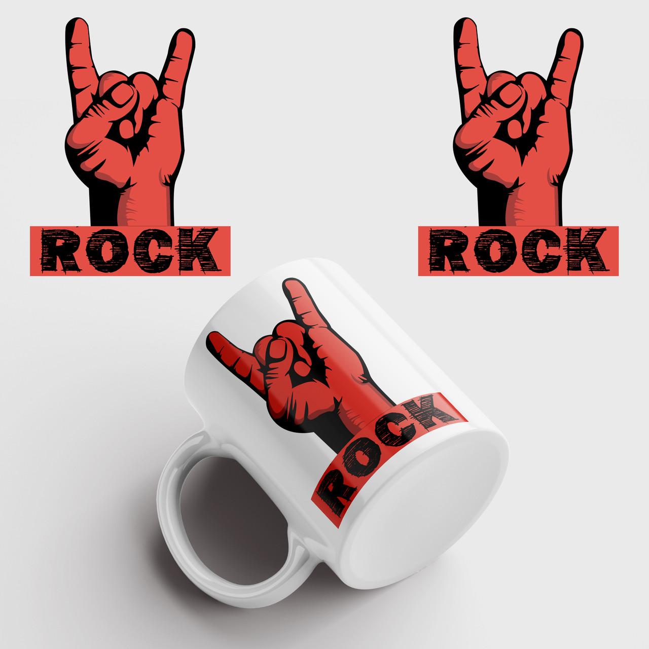 Кружка с принтом Rock. Рок. Чашка с фото