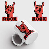 Кружка с принтом Rock. Рок. Чашка с фото, фото 1