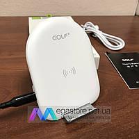 Беспроводная зарядка GOLF WQ7 Wireless Charger портативное зарядное устройство для телефона белое