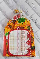 Подарочный кухонный набор льняной (U515)