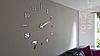 """Настенные часы 3D Большие """"Seven"""" - часы наклейка с зеркальным эффектом, необычные настенные часы стикеры, фото 6"""