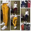 Брюки модные замшевые с высокой талией, для девочек размеры 134 - 164, фото 2