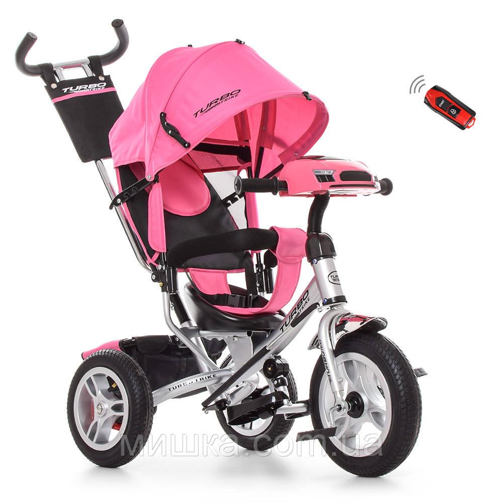 Дитячий велосипед Turbotrike M 3115HA-10R триколісний, колеса надувні, музика, ПУ, світло, сірий
