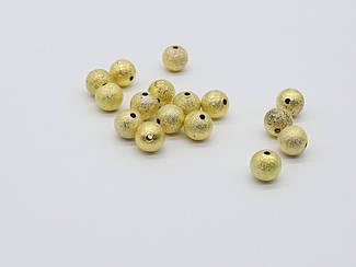 Декоративні металеві кульки. Колір золото. 10х10мм