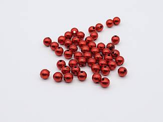 Декоративні кульки. Колір червоний. 10х10мм