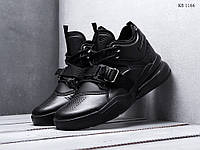 Мужские кроссовки Nike Air Force 270, кожа, пена, черные. 46