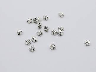 Квіточка. Колір античне срібло. 6,5 мм