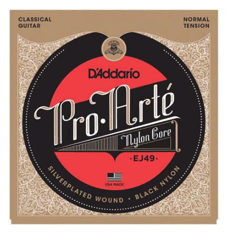 Струны для классической гитары D`ADDARIO EJ49 PRO-ARTE BLACK TREBLE NORMAL TENSION нормальное натяжение