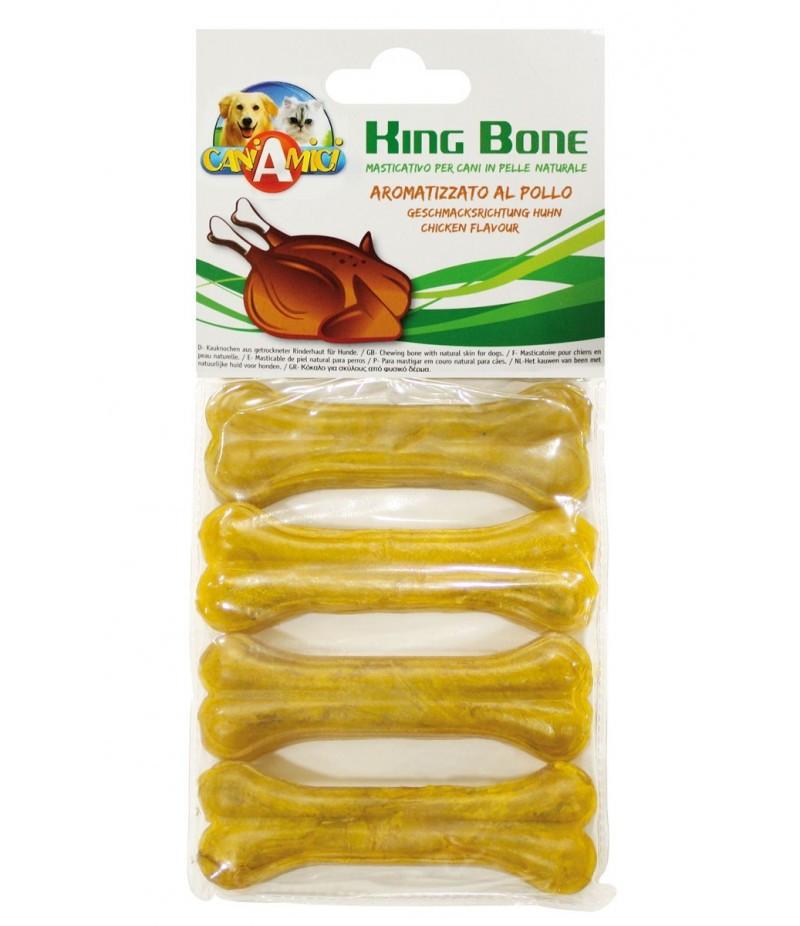 Лакомство для собак кость жилистая со вкусом курицы 10 см Croci King Bone Chicken 4 шт/уп