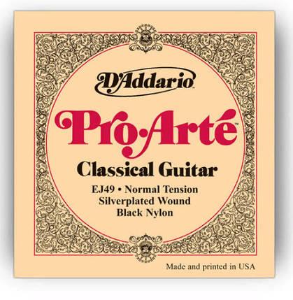 Струны для классической гитары D`ADDARIO EJ49 PRO-ARTE BLACK TREBLE NORMAL TENSION нормальное натяжение, фото 2