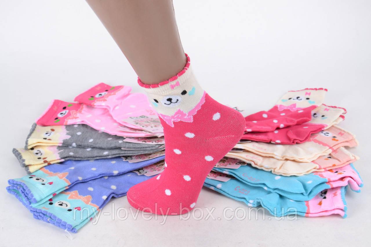 ОПТОМ.Детские носки на девочку с узором (TKC223/34-37)   12 пар