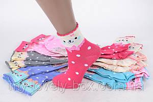 ОПТОМ.Детские носки на девочку с узором (TKC223/34-37)   12 пар, фото 2