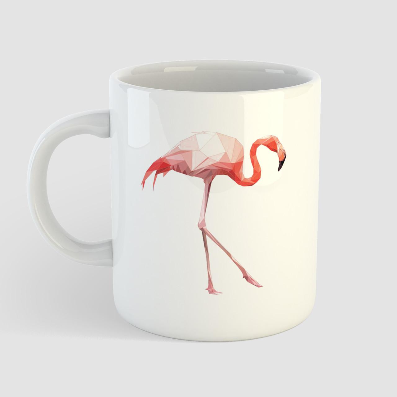 Кружка с принтом Фламинго. Птица. Чашка с фото