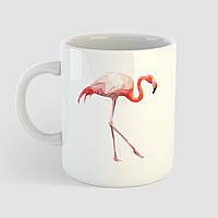 Кружка с принтом Фламинго. Птица. Чашка с фото, фото 1