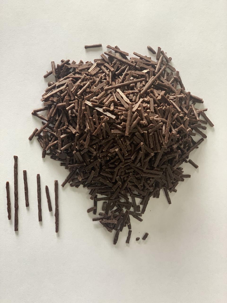 Глазурь шоколадная кондитерская черная Elite соломка