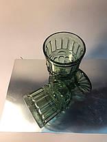 Набор 6 бокалов из цветного зеленого стекла Катрин по 300 мл, фото 2
