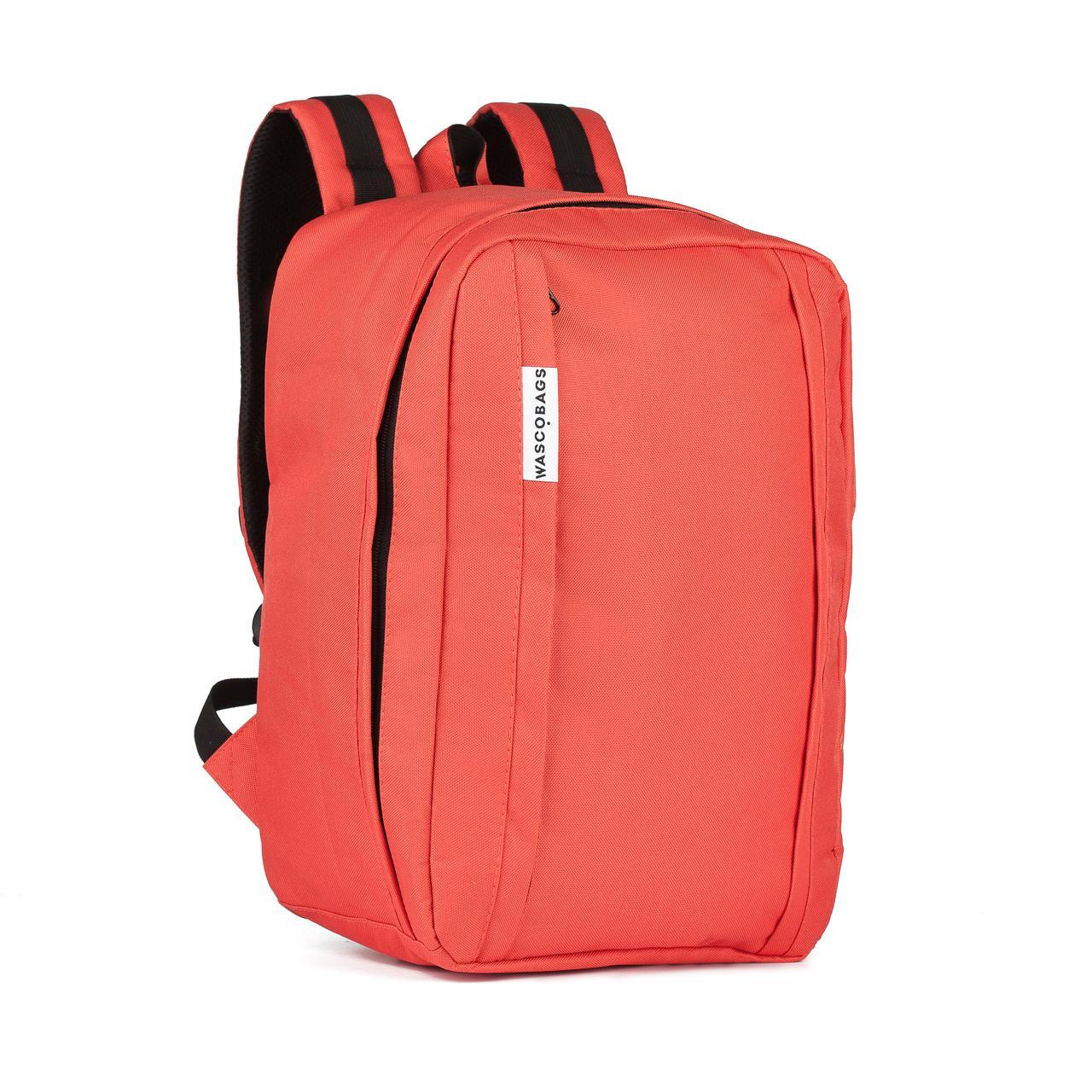 Рюкзак ручная кладь WascoBags 40x30x20 см. WZ Coral коралловый