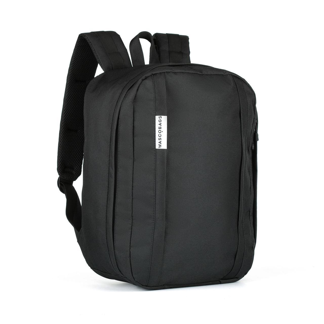 Рюкзак ручная кладь WascoBags 40x30x20 см. WZ Black черный