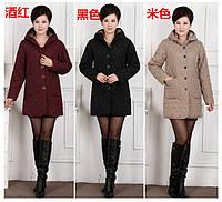 Теплое пальто коттон большие размеры  XL-5XL 5 цвета , фото 1