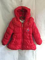 Утепленная куртка на девочку 1-3 года, Красная