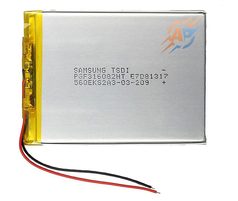 Аккумулятор 2500mAh 3.7v 306084 Samsung для навигаторов, ридеров, электронных книг, планшетов