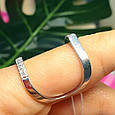 Стильное серебряное кольцо, фото 4
